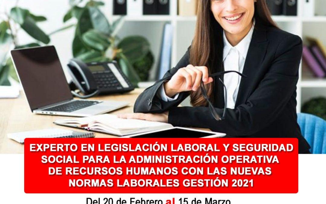 Gestión operativa laboral 2021 Ultimos cambios